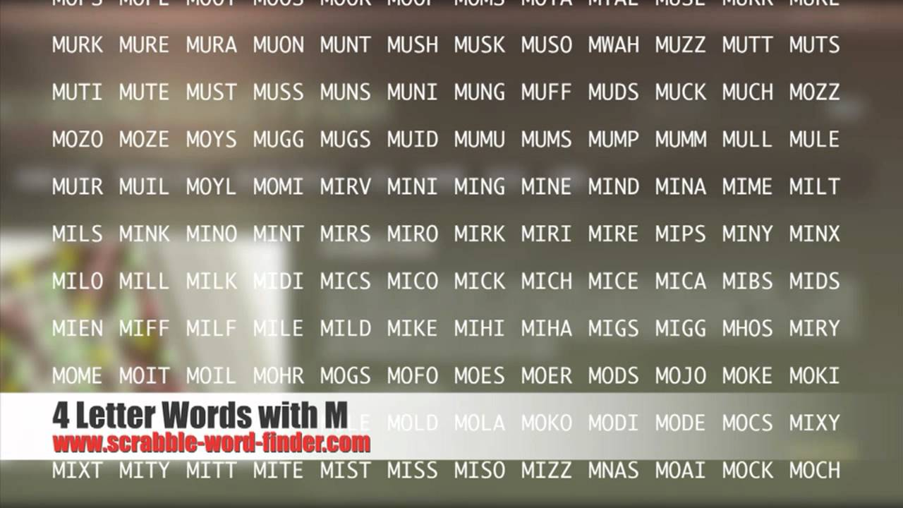 4 letter words with M   YouTube