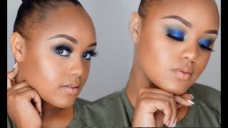 HOW TO DO A BLUE SMOKEY EYE