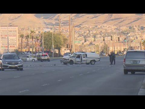 Fatal crash leads to road closure on Lake Mead, near Lamb