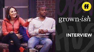 Trevor Jackson, Francia Raisa Interview The Kickback Episode 8 grown-ish x attn