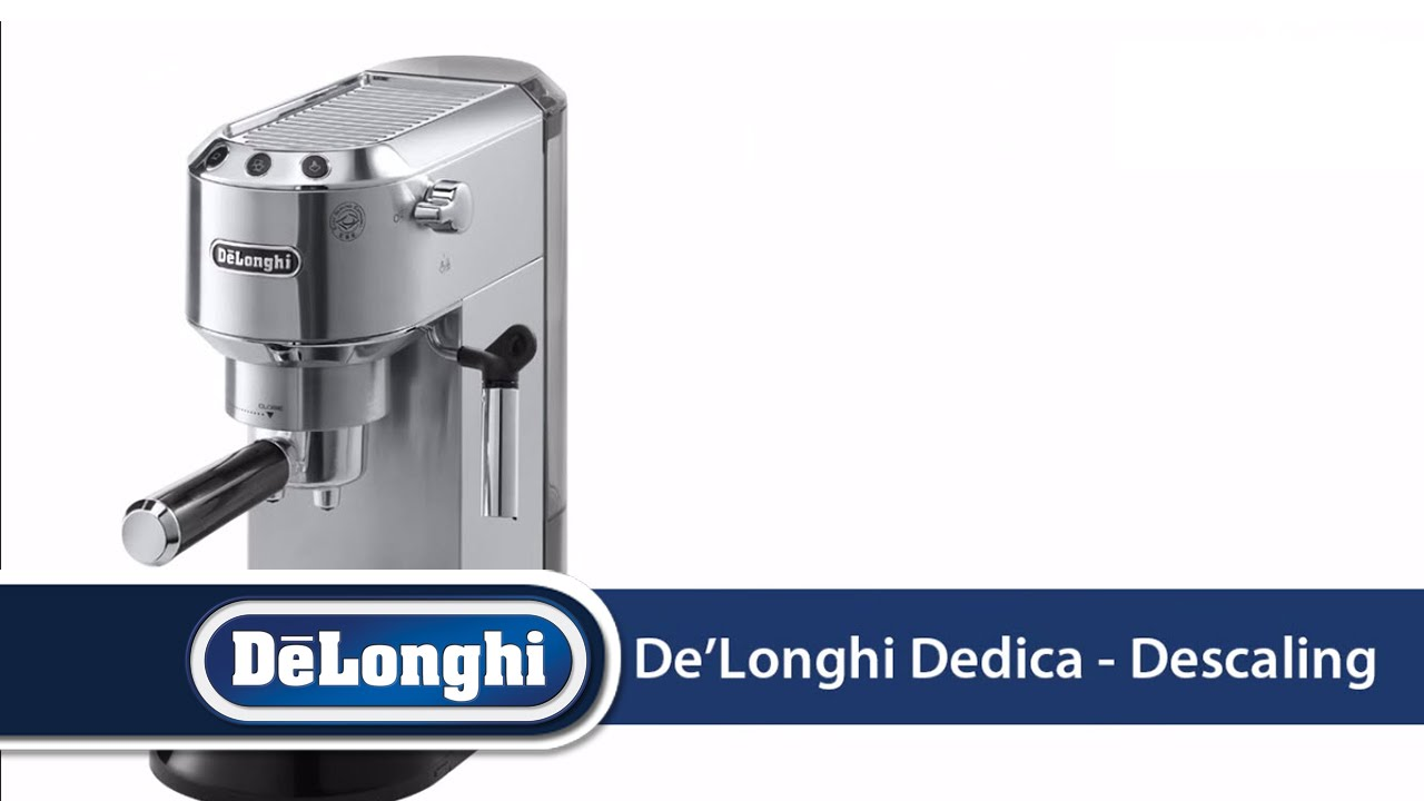De Longhi Dedica Ec680 How To Descale Your Machine Youtube