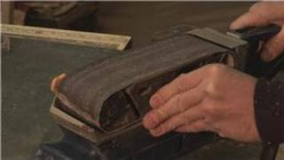 Home Repair Tools : How To Replace The Belt On A Belt Sander