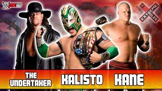 kalisto vs the undertaker vs kane extreme rules match   wwe 2k16 ps4 720p hd