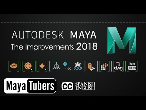 Autodesk Maya 2018 Las Mejoras - Circularize e Importar DWG - Select y Polygon Tools - MayaTubers