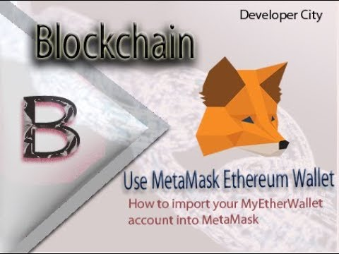 metamask tutorial|Use metamask ethereum wallet|How to import your  MyEtherWallet account into Metamas