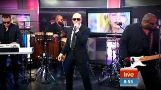Pitbull performs LIVE on Sunrise