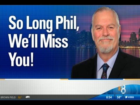 CBS 8 (KFMB) Says Goodbye to Phil Konstantin as he retires - April 1, 2016