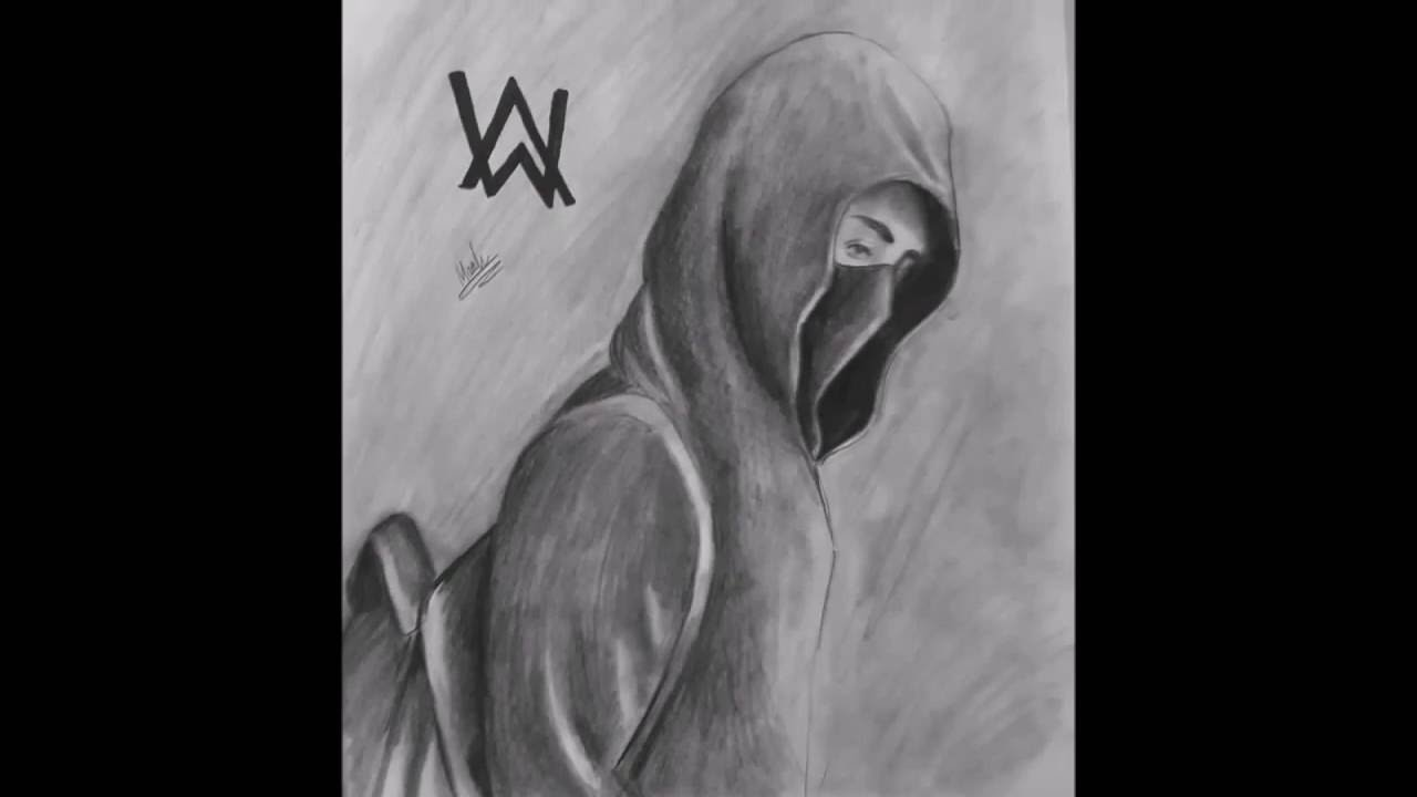 Timelapse Drawing of - Alan Walker - Faded - YouTube