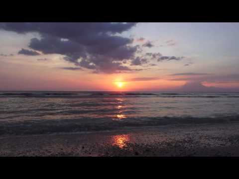 [4K] Relax 30 MIN - Relaxing Nature Sounds - LOMBOK BEACH INDONESIA, 5:40~6:10PM AND SUNSET