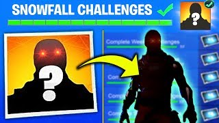 SNOWFALL SKIN CONFIRMED in FORTNITE SEASON 7 - WEEK 9 SECRET SKIN REVEALED Fortnite Battle Royale