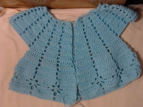 [ Crocheted Baby Sweaters ] Hướng dẫn móc áo len cho bé 2 tuổi : Kiểu 1