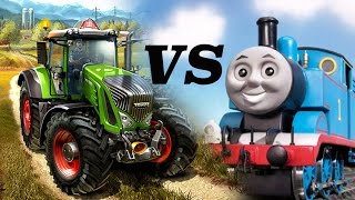 Thomas the Tank in Farming Simulator 2017?? Funny Accident Moment