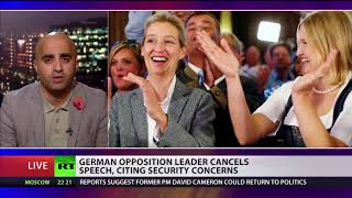 German Opposition leader cancels speech at Oxford union citing security concerns
