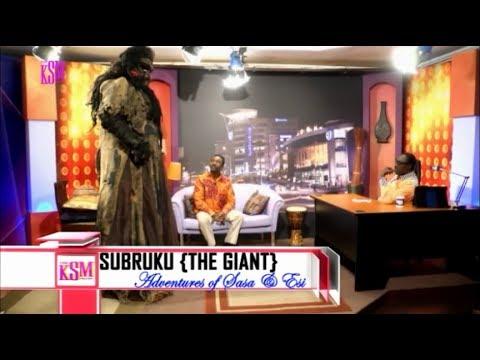 KSM Show- Johnson Edu, the creator of Subruku the giant, and Subruku hanging out with KSM