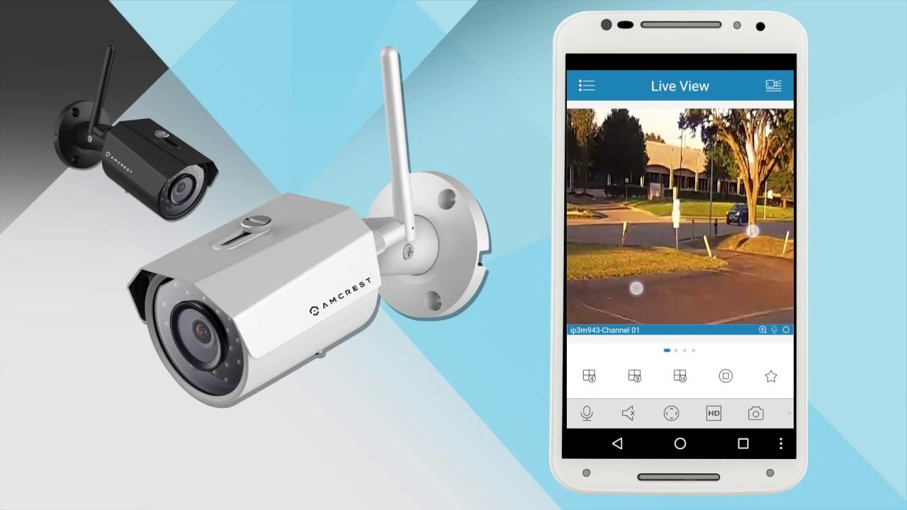 WiFi App Setup for Amcrest WiFi Bullet Cameras (IPM-723, IP3M-943)