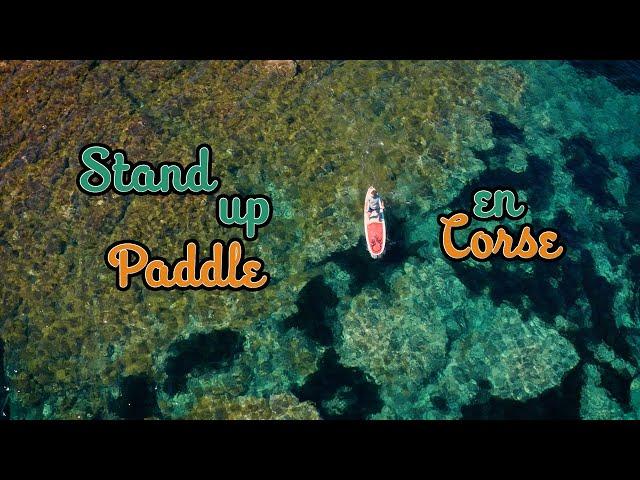Balade en paddle en Corse sur la plage du lotu