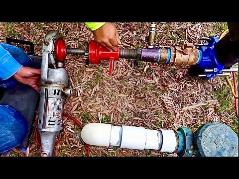 How to Hot Tapping Tapp Real Como taladrar tubos con pression de agua (El Chano Jose)
