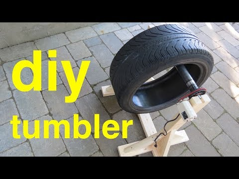 DIY TUMBLER ● from Sewing Machine and Tire !