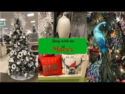 MACY'S SHOP WITH ME Christmas shop!!! 2017