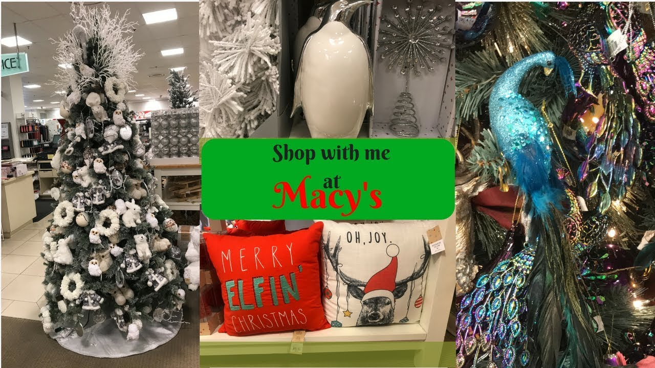 MACY\'S SHOP WITH ME Christmas shop!!! 2017 - YouTube