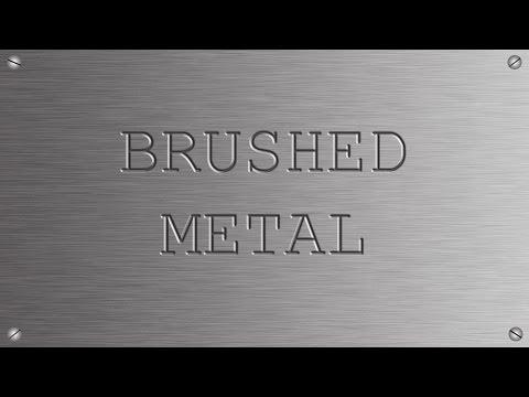 Photoshop CS5 Brushed Metal Effect Tutorial