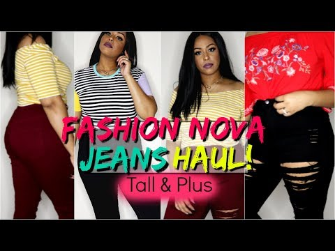 Fashion Nova Jeans Haul! | Size 15 & 1X | Try On & Thoughts | Long Enough? | TALL & Plus