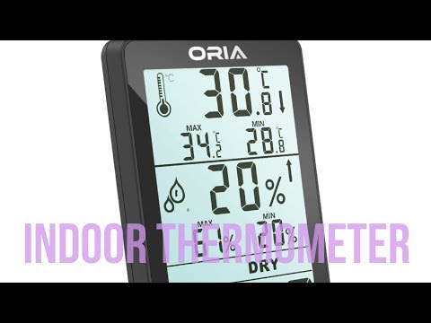Amazon Temperature Humidity ► Oria Digital Hygrometer Thermometer ◄ Indoor Gague Monitor Meter