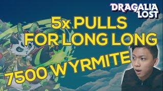[DRAGALIA LOST] PANDA KAMEHAMEHA?! 7500 Wyrmite! 5x Tenfold Summons + 5* Guarantee Summon