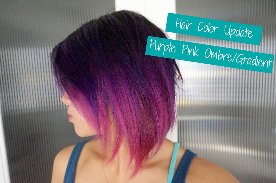 Purple Pink Hair! - YouTube