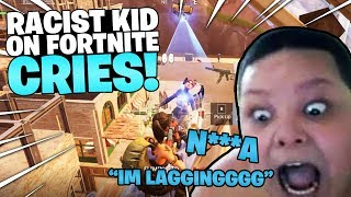 Racist Bully Gets Destroyed in Fortnite 1v1's and rages!... (CALLS ME N***A)