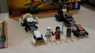 LEGO ЗВЁЗДНЫЕ ВОЙНЫ. Скоростной спидер Эзры. Обзор LEGO