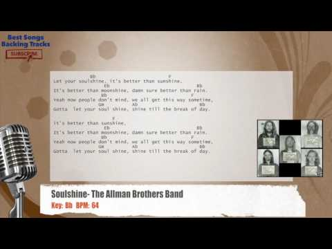 Soulshine - The Allman Brothers Band Vocal Backing Track with chords and lyrics