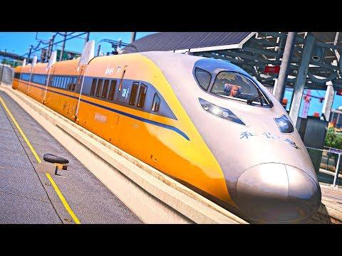 GTA 5 Train Simulator Mod - CRH380A (Train Simulator 2017)