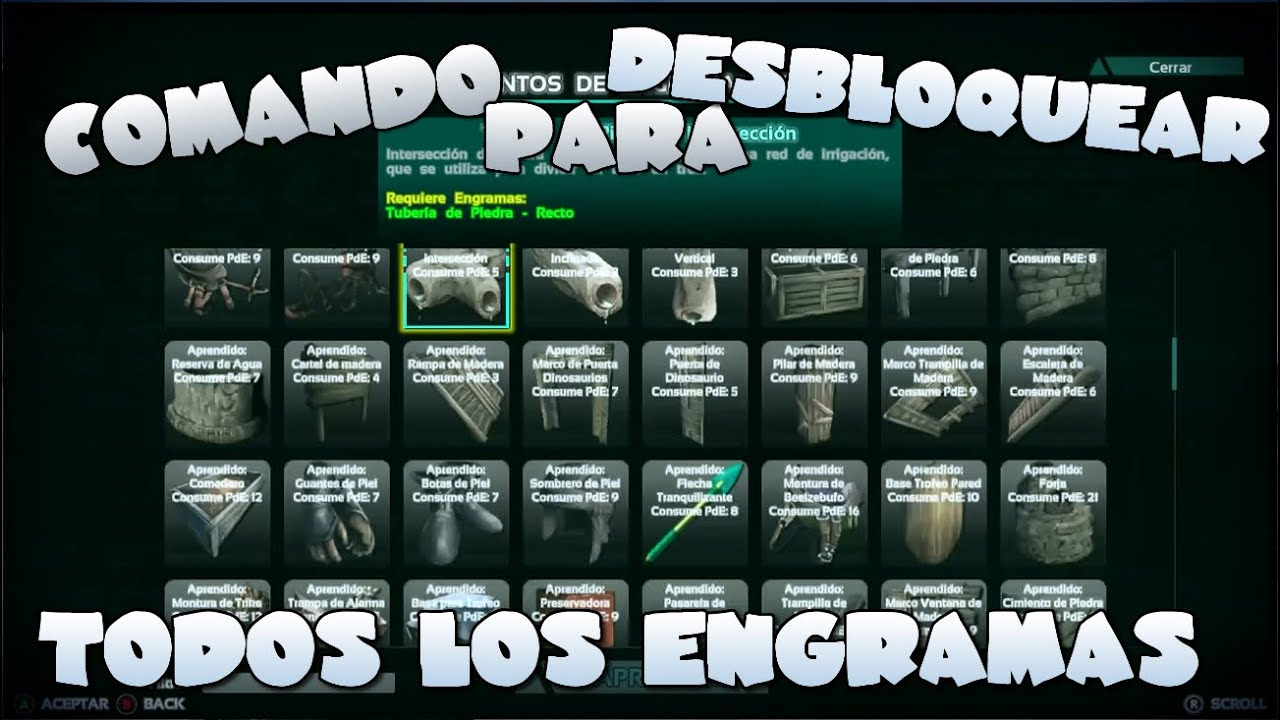 Comando para desbloquear todos los engramas ark survival evolved comando para desbloquear todos los engramas ark survival evolved xbox one malvernweather Choice Image