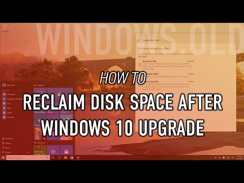 How to recliam hard drive space using Settings on Windows 10 after an upgrade