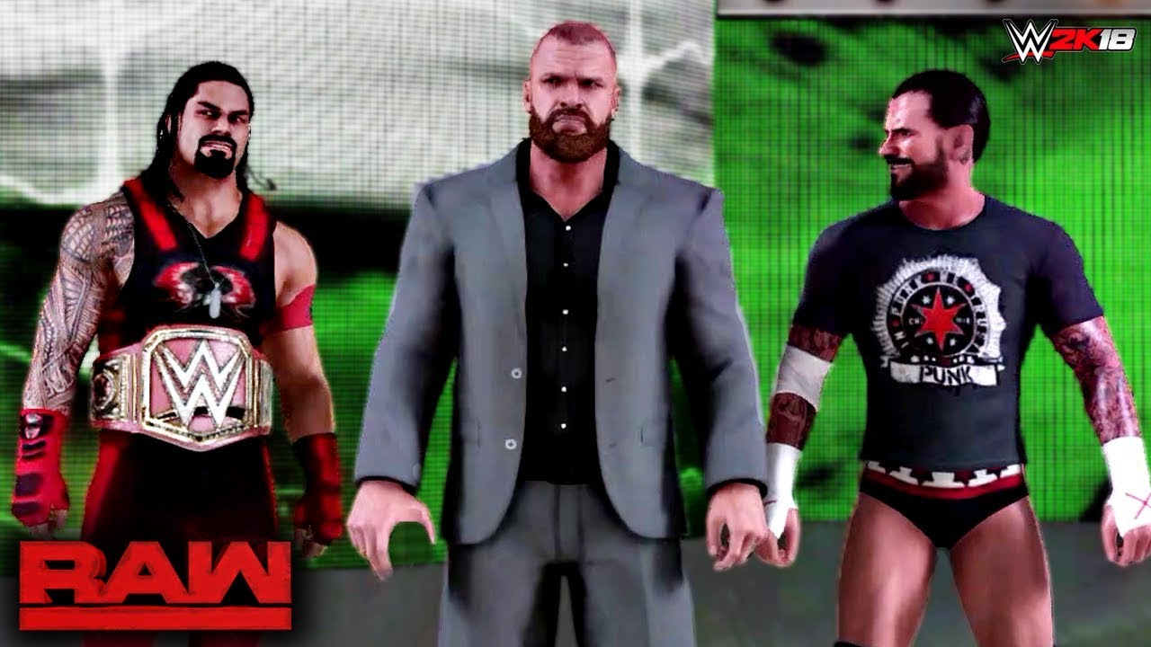 Download WWE 2K18 Custom Story - Roman Reigns Joins The Authority & Confronts Brock Lesnar Raw 2017 - Part 13