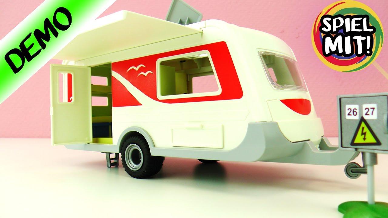 Wohnwagen Mit Etagenbett Xxl : Playmobil wohnwagen deutsch demo mit großem badezimmer