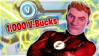 FLASH RACE OBSTACLE COURSE FOR 1,000 V-BUCKS *GONE WRONG*!! | Fortnite: Creative