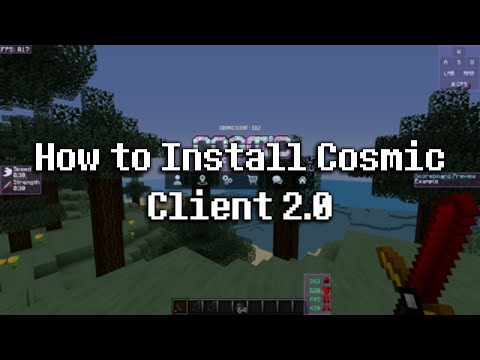 How To Install Cosmic Client 2.0 (Cosmic Client V2)