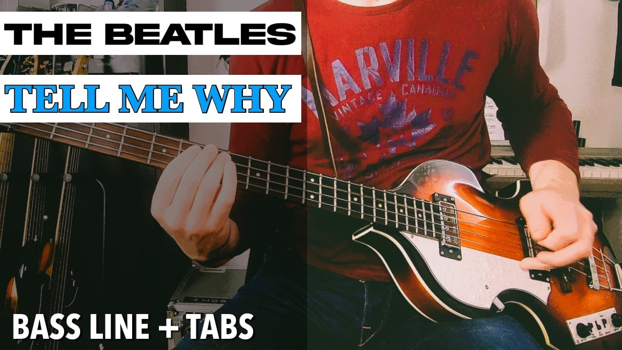 The Beatles - Tell Me Why /// BASS LINE [Play Along Tabs]