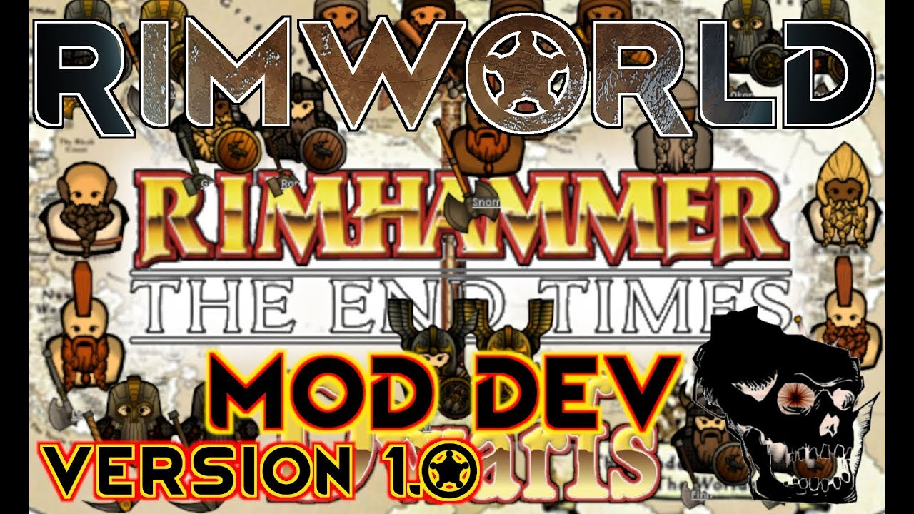 [5] RimWorld 1 0 - Research - Rimhammer The End Times Dwafs - Warhammer Mod  Preview - Let's Play