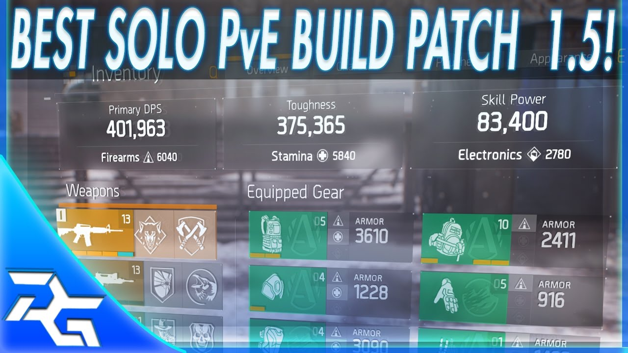 The Division   Best Solo Pvp Build