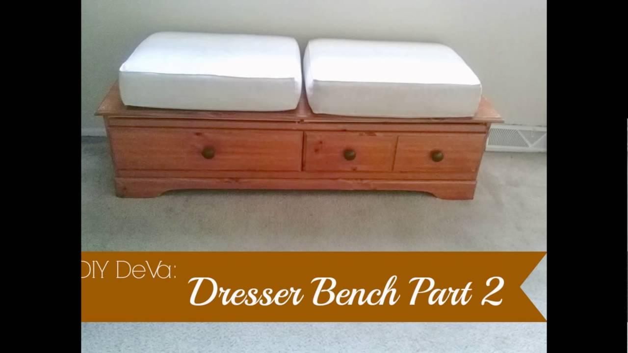 Diy Dresser To Bench