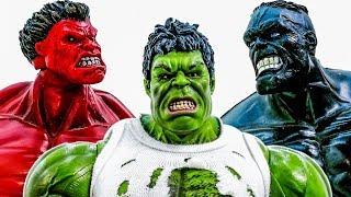 Халк Тріо Колекція Іграшок ! Знайти скарби, Халк стає червоним~!!! Супергерой Іграшка Toymarvel #