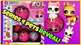 LOL Surprise SERIES 4 PETS BIG REVEAL! Pony, Bird, Owl, Skunk!