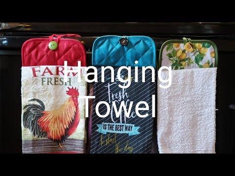 Dollar Tree Diy Hanging Stove Towels