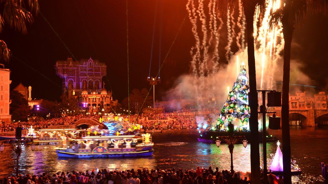 tds】ディズニーシーのクリスマス風景 ~夜のイルミネーション