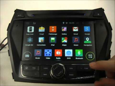 Android Auto Dvd Player For Hyundai Santa Fe 2013 2015 Gps