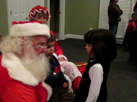 Macy & Kyle Visit Santa and Mrs. Clause