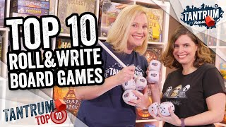 Top Ten Roll & Write Games